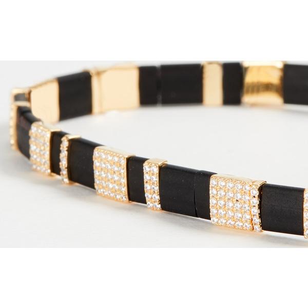 【クーポンで最大2000円OFF】(取寄)シャシ ティル ブレスレット Shashi Tilu Bracelet Noir