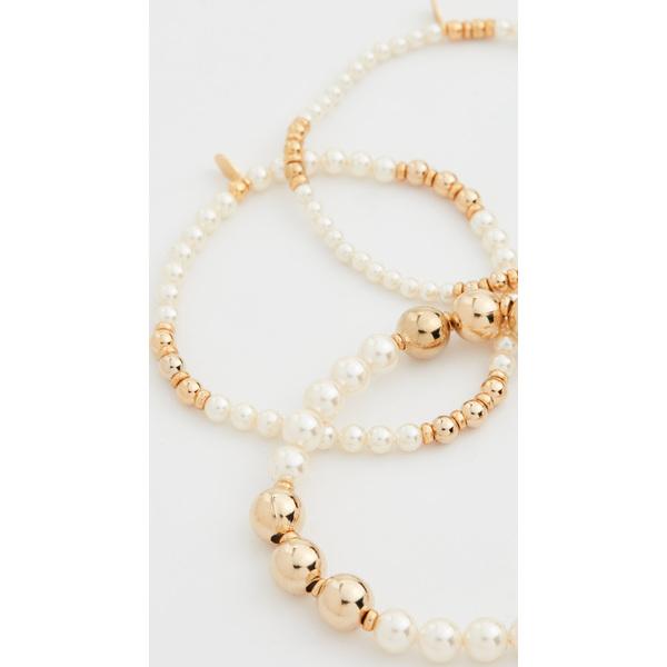 【クーポンで最大2000円OFF】(取寄)シャシ エンプレス ブレスレット セット Shashi Empress Bracelet Set Pearl