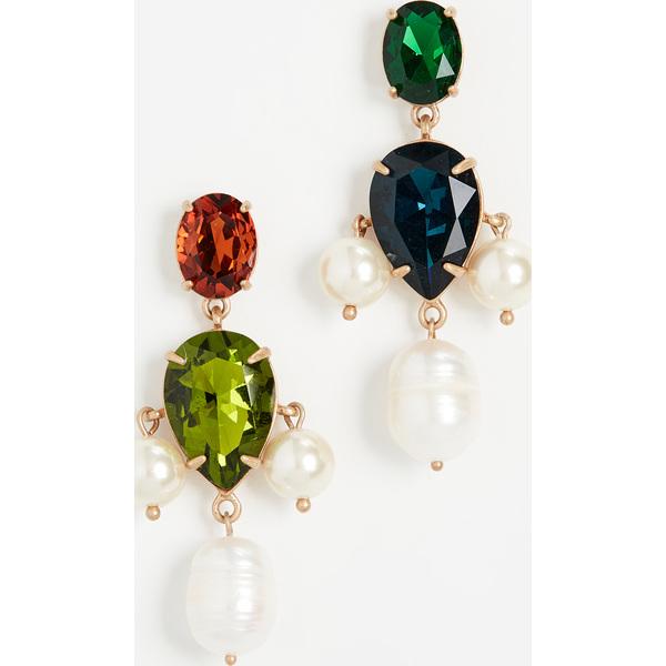 【クーポンで最大2000円OFF】(取寄)トリーバーチ パール マルチ ストーン ドロップ ピアス Tory Burch Pearl Multi Stone Drop Earrings Pearl Multi