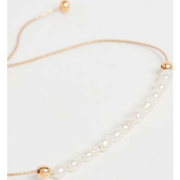 (取寄)シャシ ナターシャ パール スライド ブレスレット Shashi Natasha Pearl Slide Bracelet Gold