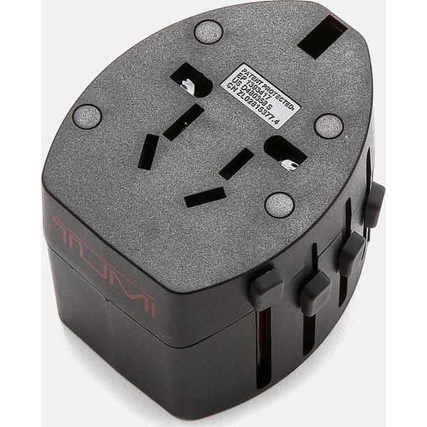 (取寄)トゥミ インターナショナル トラベル エレクトリック アダプター Tumi International Travel Electric Adaptor Black