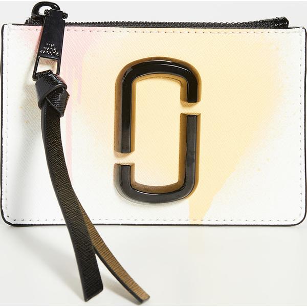 (取寄)マークジェイコブス スナップショット トップ ジップ ウォレット The Marc Jacobs Snapshot Top Zip Wallet WhiteMulti