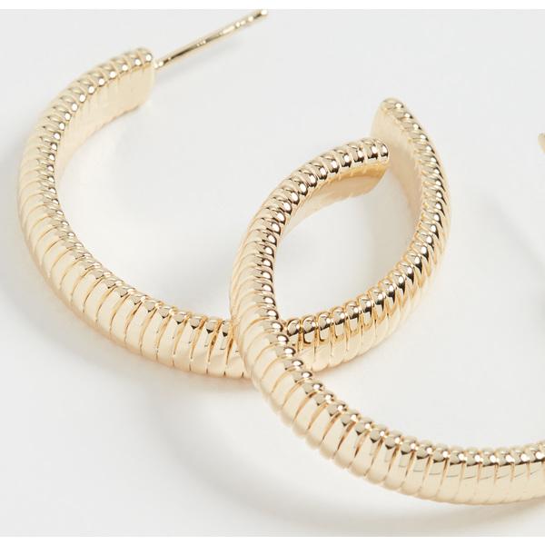 【クーポンで最大2000円OFF】(取寄)シャシ エリート フープ ピアス Shashi Elite Hoop Earrings Gold