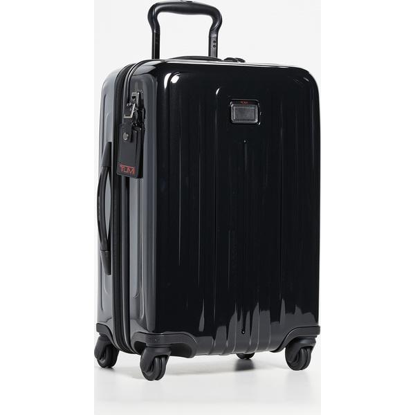 (取寄)トゥミ V4 V4 インターナショナル インターナショナル エクスパンダブル エクスパンダブル キャリー オン スーツケース Tumi V4 International Expandable Carry On Suitcase Black
