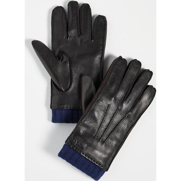 (取寄)ポールスミス ディアスキン グローブ Paul Smith Deerskin Gloves Black