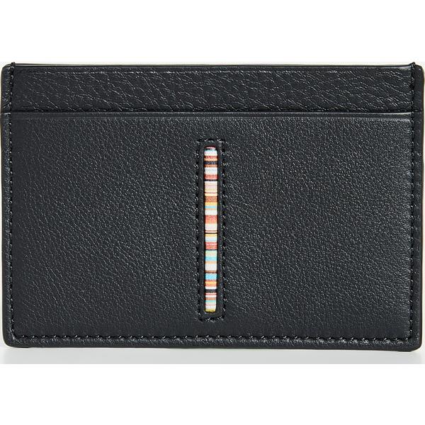(取寄)ポールスミス インサート マルチストライプ カード ケース Paul Smith Insert Multistripe Card Case Black