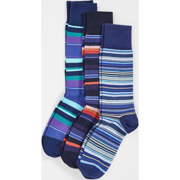 (取寄)ポールスミス 3 パック ソックス Paul Smith 3 Pack Socks Assorted