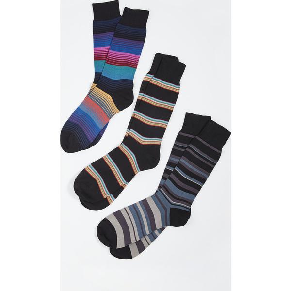 【エントリーでポイント5倍】(取寄)ポールスミス 3 パック ソックス Paul Smith 3 Pack Socks Assorted