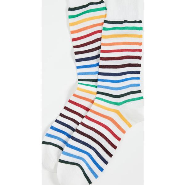 Paul Smith ポールスミス ソックス 靴下 レッグウェア ブランド クーポンで最大2000円OFF レインボー Neo Socks 日本製 Rainbow WhiteMulti 10%OFF ネオ 取寄