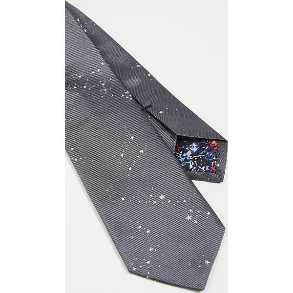 (取寄)ポールスミス スプラッタード スターズ タイ Paul Smith Splattered Stars Tie Grey