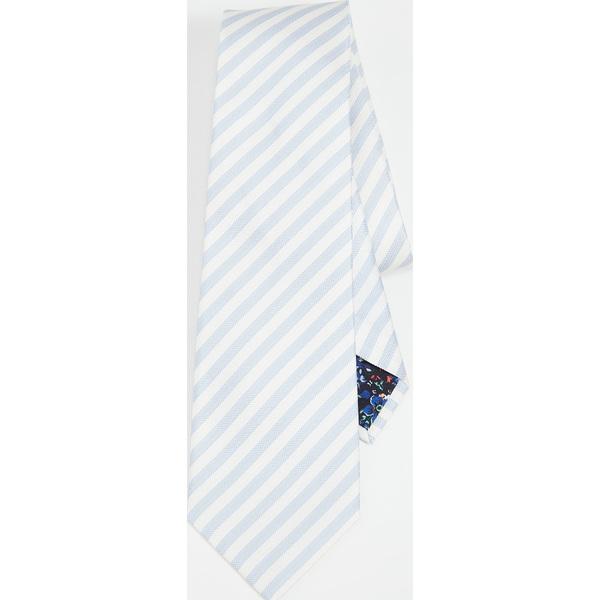 (取寄)ポールスミス クラシック ストライプド タイ Paul Smith Classic Striped Tie Blue White