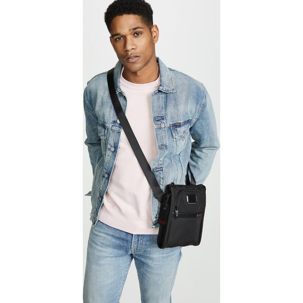 (取寄)トゥミ アルファ アルファ スモール ポケット バッグ Tumi Alpha Small Pocket Bag Black