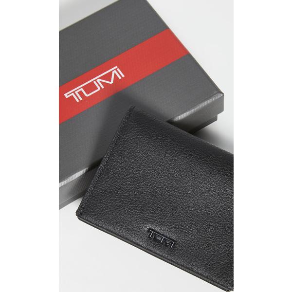 【クーポンで最大2000円OFF】(取寄)トゥミ ナッソー SLG ガゼット ガゼット カード ケース Tumi Nassau SLG Gusseted Card Case BlackTexture