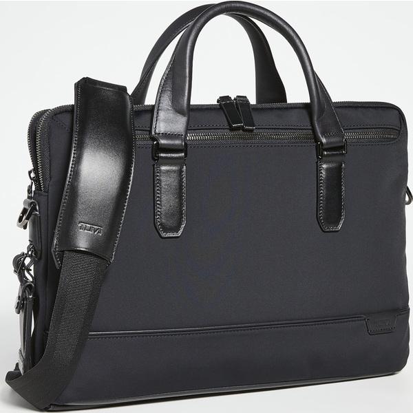 (取寄)トゥミ ハリソン シカモア スリム ブリーフケース Tumi Harrison Sycamore Slim Briefcase Black