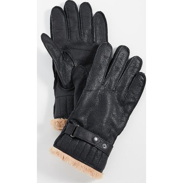 (取寄)バブアー レザー ユーティリティ グローブ Barbour Leather Utility Gloves Black