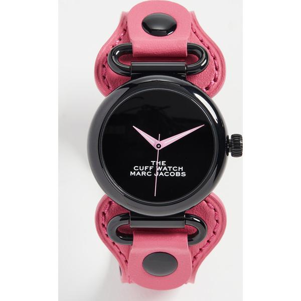 【クーポンで最大2000円OFF】(取寄)マークジェイコブス ザ 36mm カフ ウォッチ The Marc Jacobs The 36mm Cuff Watch Pink Black