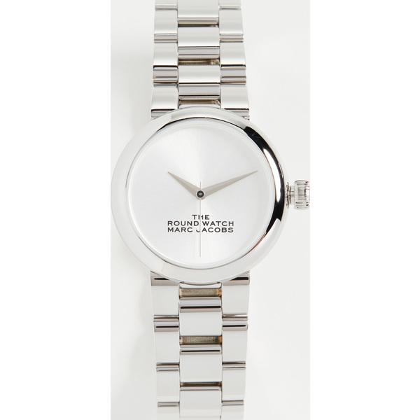 【クーポンで最大2000円OFF】(取寄)マークジェイコブス ザ ラウンド ウォッチ 32mm The Marc Jacobs The Round Watch 32mm Silver