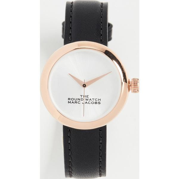 【クーポンで最大2000円OFF】(取寄)マークジェイコブス ザ ラウンド ウォッチ The Marc Jacobs The Round Watch Black RoseGold