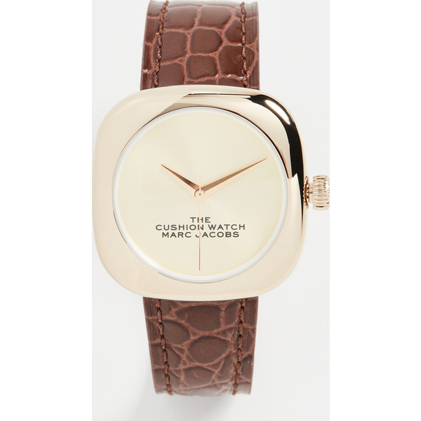 【クーポンで最大2000円OFF】(取寄)マークジェイコブス ザ クッション ウォッチ 36mm The Marc Jacobs The Cushion Watch 36mm Gold