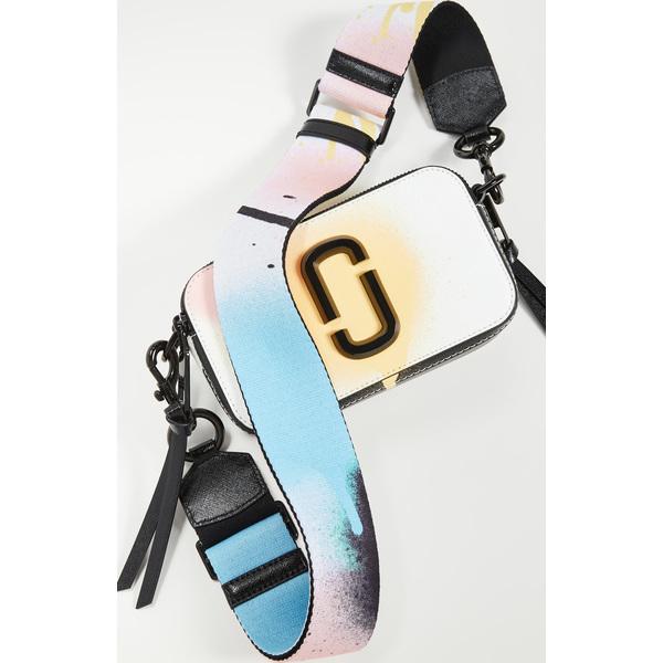 (取寄)マークジェイコブス スナップショット クロスボディ バッグ The Marc Jacobs Snapshot Crossbody Bag WhiteMulti