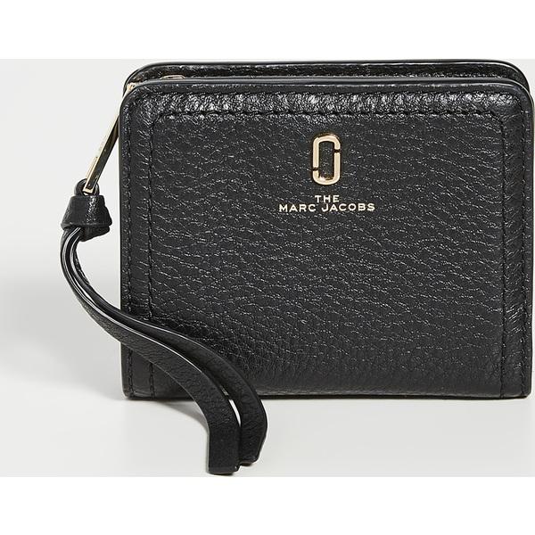 (取寄)マークジェイコブス ソフトショット ミニ コンパクト ウォレット The Marc Jacobs Softshot Mini Compact Wallet Black