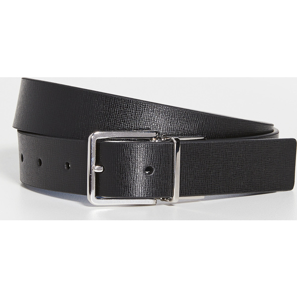 【エントリーでポイント5倍】(取寄)ポールスミス カット トゥ フィット リバーシブル ベルト Paul Smith Cut To Fit Reversible Belt Black