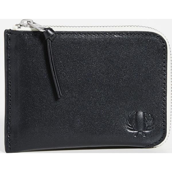 【エントリーでポイント5倍】(取寄)フレッドペリー コントラスト インテリア ジップ アラウンド ウォレット Fred Perry Contrast Interior Zip Around Wallet Black