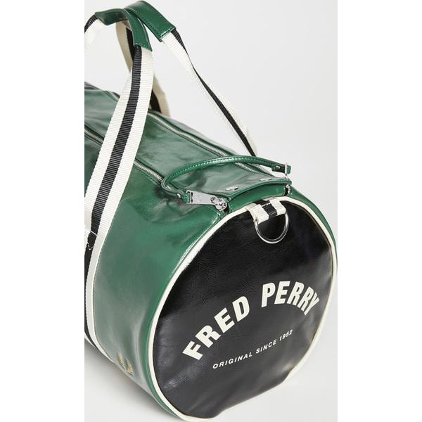 【エントリーでポイント5倍】(取寄)フレッドペリー カラー ブロック クラシック バレル バッグ Fred Perry Color Block Classic Barrel Bag TartanGreen Black
