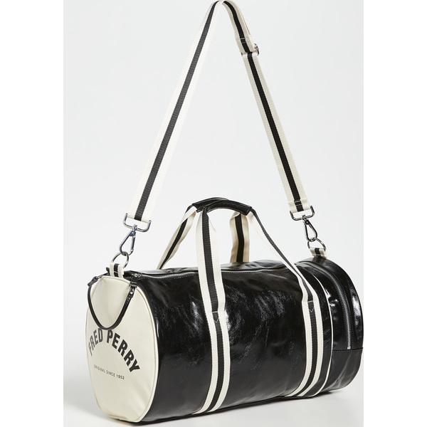 【エントリーでポイント5倍】(取寄)フレッドペリー クラシック バレル バッグ Fred Perry Classic Barrel Bag Black Ecru