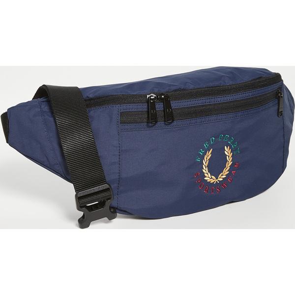 【エントリーでポイント5倍】(取寄)フレッドペリー ブランデット リップストップ クロスボディ バッグ Fred Perry Branded Ripstop Crossbody Bag Navy