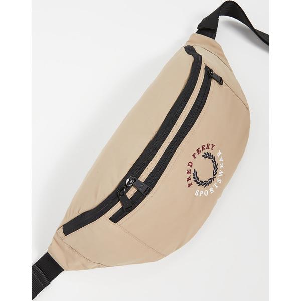 【エントリーでポイント5倍】(取寄)フレッドペリー ブランデット リップストップ クロスボディ バッグ Fred Perry Branded Ripstop Crossbody Bag Stone