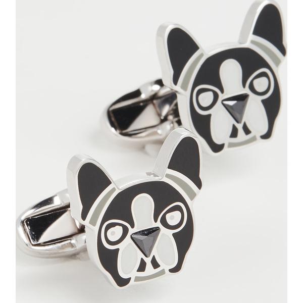 【クーポンで最大2000円OFF】(取寄)ポールスミス ドッグ フェイス カフリンクス Paul Smith Dog Face Cufflinks Black White