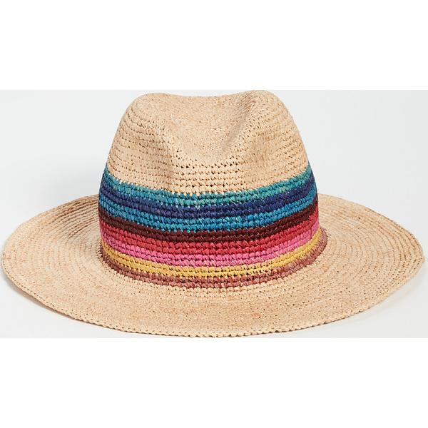 【エントリーでポイント5倍】(取寄)ポールスミス アーティスト ストロー クローシェ ハット Paul Smith Artist Straw Crochet Hat Natural Multi