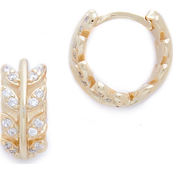 【クーポンで最大2000円OFF】(取寄)シャシ アメリア ハギー ピアス Shashi Amelia Huggie Earrings Gold