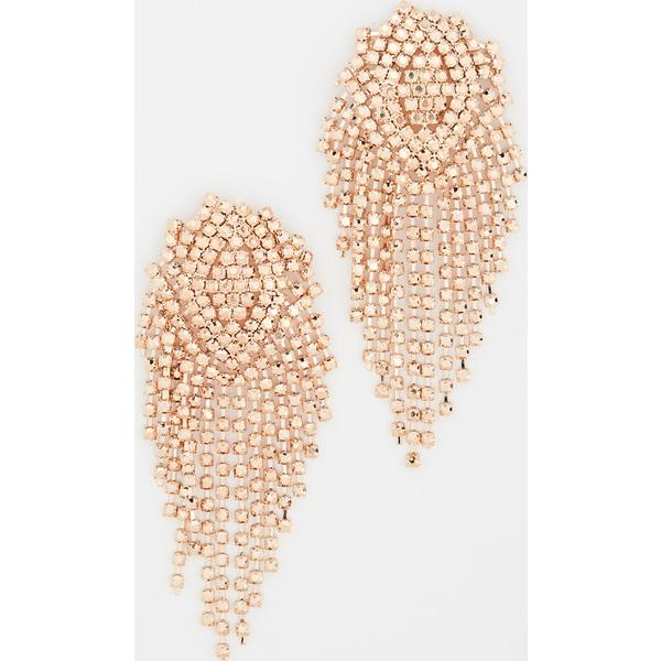 【クーポンで最大2000円OFF】(取寄)シャシ グイーン オブ ザ ナイト ピアス Shashi Queen of the Night Earrings GoldCrystal