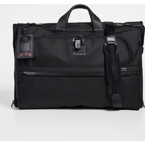 【エントリーでポイント5倍】(取寄)トゥミ アルファ アルファ ガーメント Tri フォールド キャリー オン バッグ Tumi Alpha Garment Tri Fold Carry On Bag Black