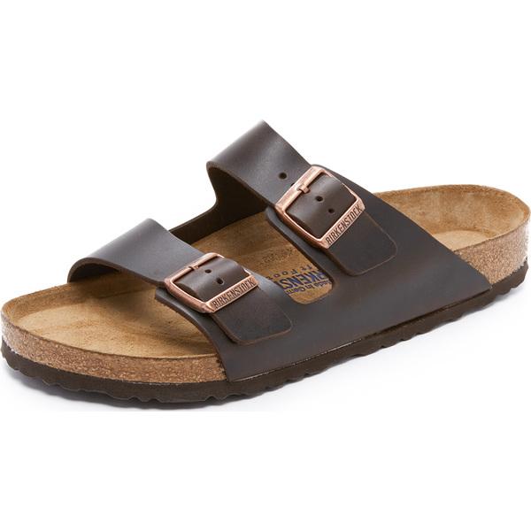 (取寄)ビルケンシュトック ソフト アリゾナ アマルフィ レザー サンダル Birkenstock Soft Arizona Amalfi Leather Sandals Brown