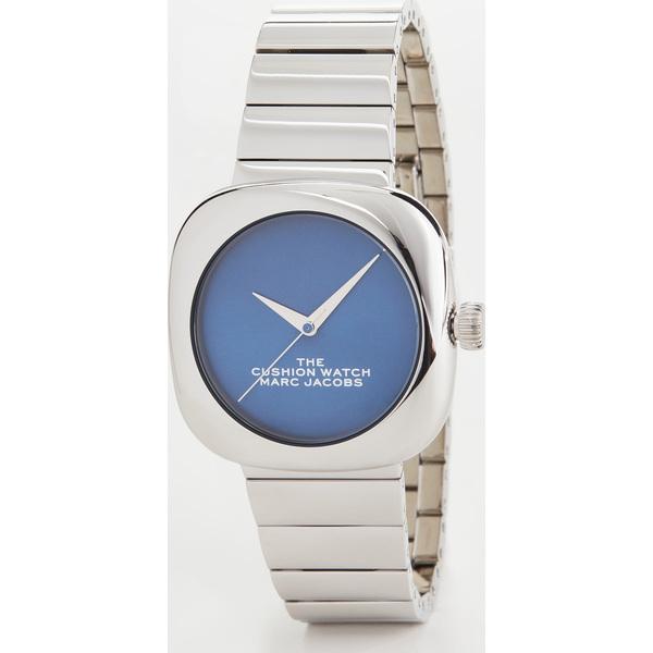 【クーポンで最大2000円OFF】(取寄)マークジェイコブス ザ クッション ウォッチ 36mm The Marc Jacobs The Cushion Watch 36mm Silver Blue
