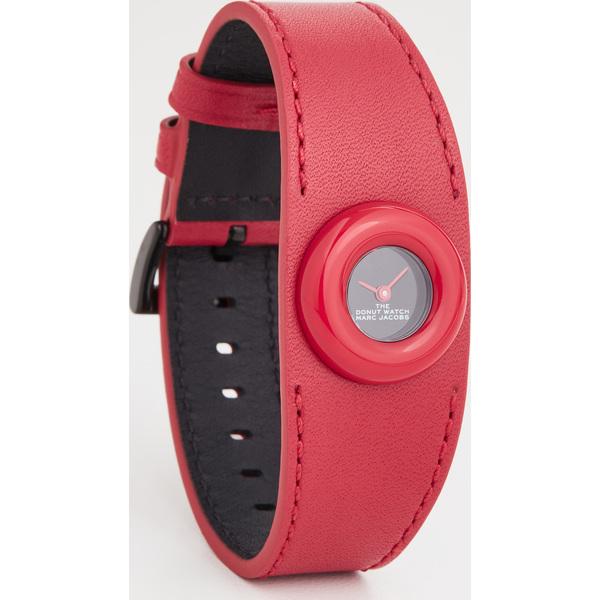 【クーポンで最大2000円OFF】(取寄)マークジェイコブス ザ ドーナツ ウォッチ 22mm The Marc Jacobs The Donut Watch 22mm Black Red