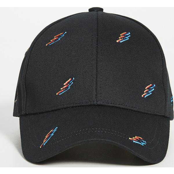 (取寄)ピーエス ポールスミス エンブロイダー フルロ フラッシュ ベースボール キャップ PS Paul Smith Embroidered Fluro Flash Baseball Cap BlackMulti