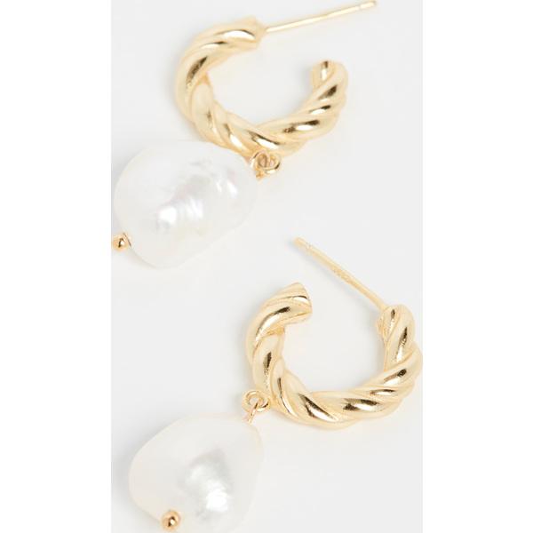 【クーポンで最大2000円OFF】(取寄)シャシ ビンテージ ピアス Shashi Vintage Earrings Gold Pearl