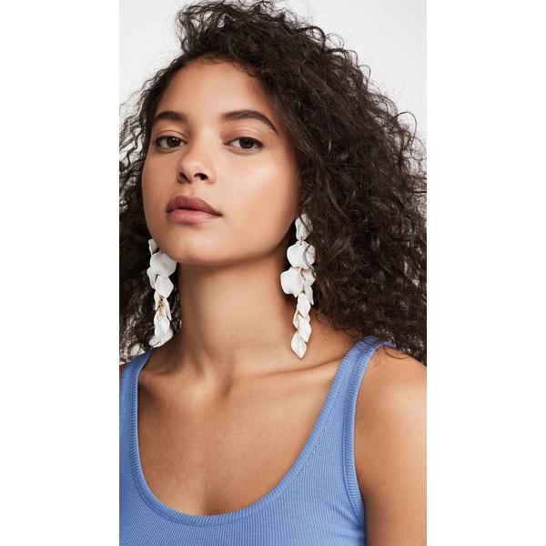 【クーポンで最大2000円OFF】(取寄)シャシ ラ フロール ピアス Shashi La Flor Earrings White