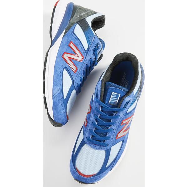 (取寄)ニューバランス メンズ メイド イン USA 990 スニーカー New Balance Men's Made In USA 990 Sneakers AndromedaBlue TeamRed