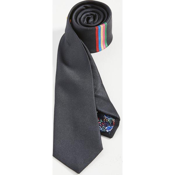 (取寄)ポールスミス ストライプド タイ Paul Smith Striped Tie BlackMulti