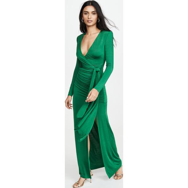 (取寄)アリス アンド オリビア レディース キーラ ディープ V ドレイピー マキシ ドレス alice + olivia Women's Kyra Deep V Drapey Maxi Dress Basil