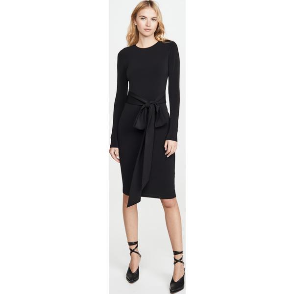 (取寄)アリス アンド オリビア レディース デローラ ロング スリーブ タイ ウェスト ドレス alice + olivia Women's Delora Long Sleeve Tie Waist Dress Black