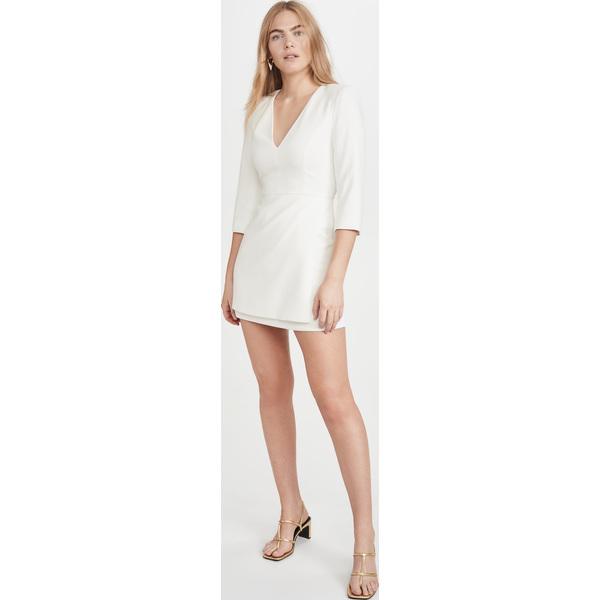 (取寄)アリス アンド オリビア レディース スティービー ダブル レイヤー ドレス alice + olivia Women's Stevie Double Layer Dress OffWhite