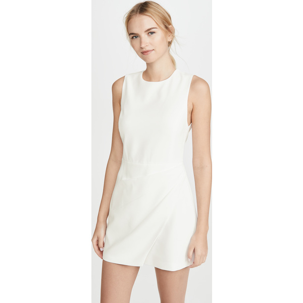 (取寄)アリス アンド オリビア レディース ケルシー アシンメトリック ドレープ ドレス alice + olivia Women's Kelsey Asymmetric Drape Dress OffWhite
