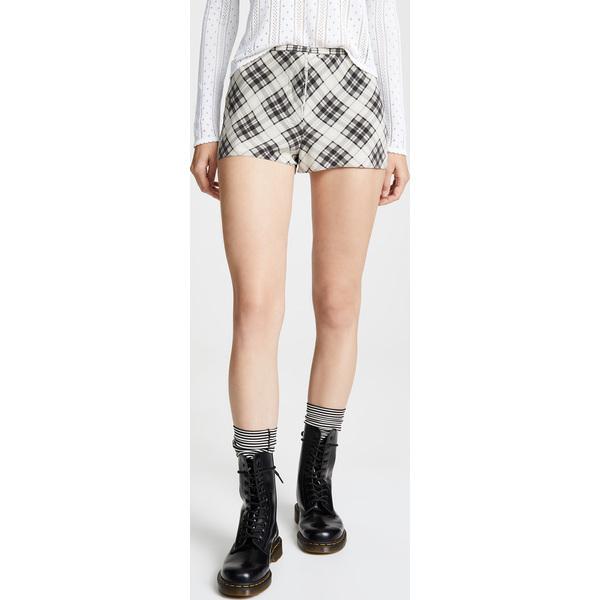 【エントリーでポイント5倍】(取寄)マークジェイコブス リダックス グランジ プレイド ショーツ The Marc Jacobs Redux Grunge Plaid Shorts IvoryMulti