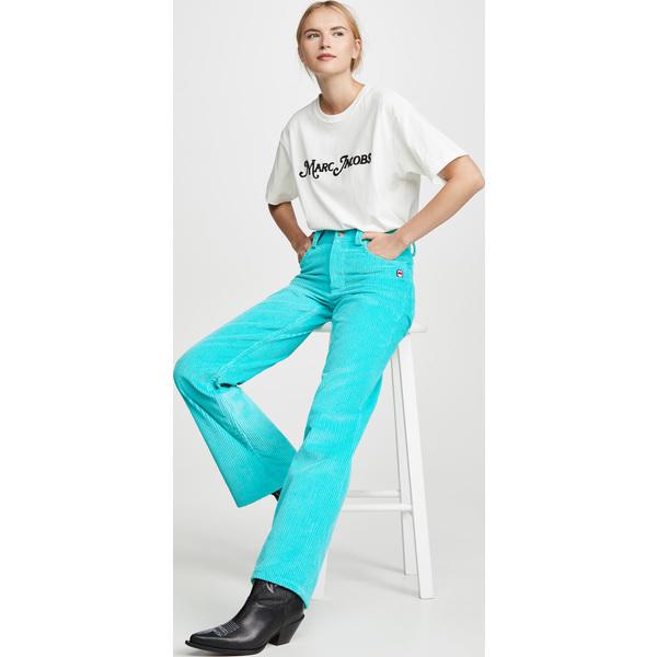 (取寄)マークジェイコブス ザ コーデュロイ フレアード ジーンズ The Marc Jacobs The Corduroy Flared Jeans Turqouise